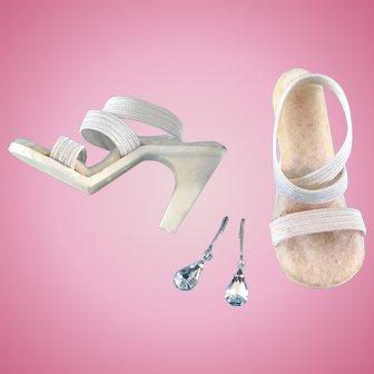 Vintage Doll Shoes Heels & Jewelry Madame Alexander Cissy Miss Revlon Toni Cindy