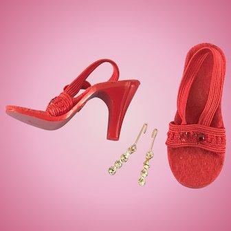 Vintage Doll Shoes plus Jewelry fit Madame Alexander Cissy Miss Revlon Toni