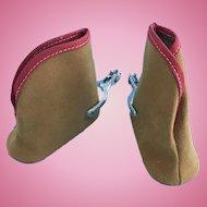 Vintage Doll Shoes Cowboy Boots w/ Spurs Terri Lee Gene Autry Madame Alexander