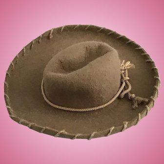 Vintage Doll Cowboy Hat Shirley Temple Mary Hoyer Skippy Terri Lee Little Angel