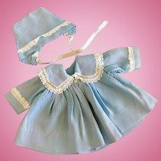 Vintage Original Effanbee Dy-Dee Baby Doll Coat & Bonnet Tiny Tears Betsy Wetsy