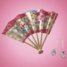 Vintage Doll Fan, Jewelry Madame Alexander Cissette Little Miss Revlon Toni Coty