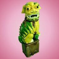 Vintage Chinese Porcelain Foo Dog Statue Figure Figurine