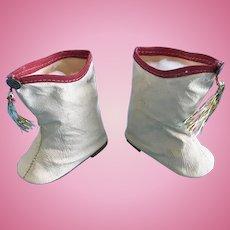 Vintage Mary Hartline Toni Doll Shoes Oilcloth Majorette Boots Arranbee Effanbee