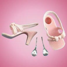 "Vintage 15"" Toni Sweet Sue Sophisticate Doll Shoes, Jewelry Miss Revlon Dollikin"