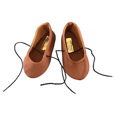 Vintage Joyce Nicholson New Zealand Leather Doll Shoes for German French Bisque