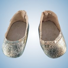 Vintage Gold Doll Shoes Littlest Angel Tiny Terri Lee Patsyette Shirley Temple