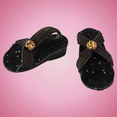 Vintage Original Madame Alexander Lissy Doll Shoes Wedge Sandal Heels