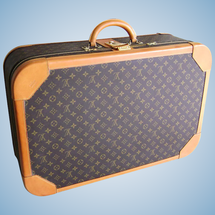 7e67f336259a Vintage 1980 s Louis Vuitton Monogram Luggage 27.5 inch Suitcase ...