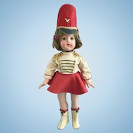Vintage All Orig. Effanbee Anne Shirley Little Lady Majorette Doll Composition