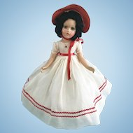 Vintage All Orig Madame Alexander Composition Doll Scarlet O'hara in Dress & Oilcloth Shoes