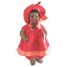 Antique Vintage German Minerva Black Celluloid & Cloth Doll Googly Eyes Germany - Red Tag Sale Item