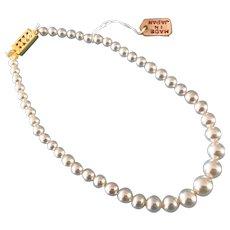 Vintage Doll Jewelry Pearl Necklace Madame Alexander German Bisque Miss Revlon