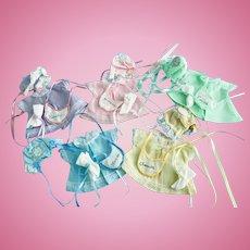 Set of 5 Dresses Bonnets Bibs made for Composition Dionne Quintuplet Dolls Quint