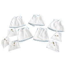 Set of 5 Slips Nighties Diapers made for Composition Dionne Quintuplet Dolls