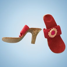 Vintage Doll Shoes High Heels for 22 inch Miss Revlon Daisy Accents!