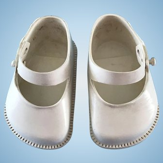 Vintage White Doll Shoes fit Ideal Toni P94 or 22 inch Saucy Walker