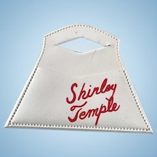 "Vintage Original 1950's Ideal 12"" Shirley Temple Doll ""Signature"" White Purse"