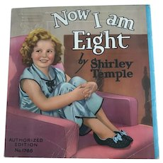 "Vintage 1937 Saalfield 1766 ""Now I am Eight by Shirley Temple"" Book"
