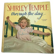 "Vintage 1936 Saalfield 1716 ""Shirley Temple Through the Day"" Book"