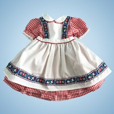 """""""Heidi"""" Movie Dress made for Vintage 27 inch Composition Shirley Temple Doll"""