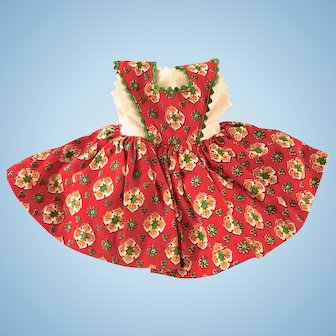 """Vintage Original 1950's Ideal 12"""" Shirley Temple Doll Clothes Dress TAGGED"""