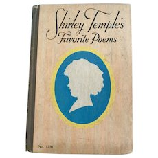 "Vintage 1936 Saalfield 1720 ""Shirley Temple's Favorite Poems"" Book"
