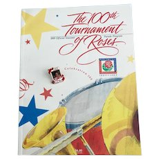 Vintage 100th Tournament of Roses Souvenir Parade Program Shirley Temple w/ Pin
