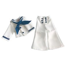 Captain January Sailor Uniform made for Vintage Composition Shirley Temple Doll