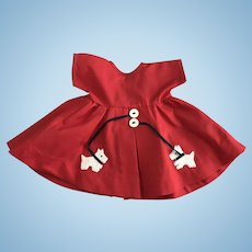 Scottie Dog Dress made for Vintage 18 inch Composition Shirley Temple Doll