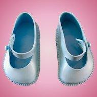 Vintage Original 1950's Terri Lee Blue Doll Shoes Toni P93