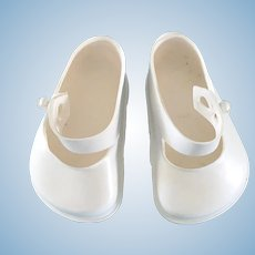 Vintage Original 1950's Terri Lee White Doll Shoes Toni P93