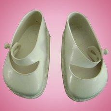 Vintage Original 1950's Terri Lee White Doll Shoes Toni P93
