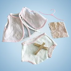 Vintage Tiny Tears Doll Layette Set Underwear, Clothes Pins Betsy Wetsy Dy-Dee
