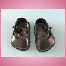 Vintage Original Tiny Terri Lee Arranbee Littlest Angel Lil Imp Black Doll Shoes