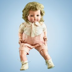 Vintage All Orig Effanbee Baby Bright Eyes Tommy Tucker Doll Composition & Cloth