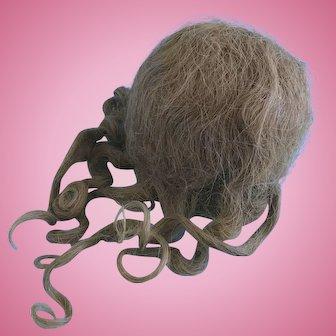 Vintage Human Hair Doll Wig Bisque Composition Madame Alexander Effanbee Ideal