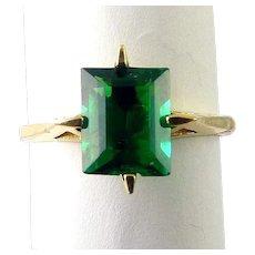 14K Yellow Gold 4-Prong Modernist Ring Setting