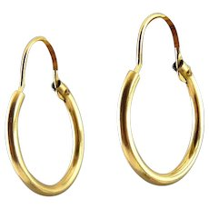 "14K Yellow Gold-Filled 5/8"" Tubular Hoops, Pierced"
