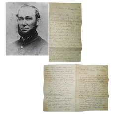 2 Civil War Letters from Private David Hayes (Hays), 100th PENN Reg. - Roundhead Regiment, 1863-64, Battle of Hatcher's Run