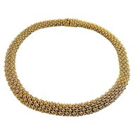 CINER Golden Beads Flexible Collar Necklace