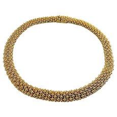 CINER Golden Beads Flexible Collar Necklace