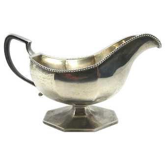 Antique Howard & Co. Sterling Silver Gravy Boat, Hexagonal Form, ca 1890