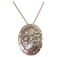 Frank Kulik Handwrought Sterling Silver Floral Brooch Pin - Pendant, Kulikraft