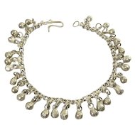 Middle Eastern Indian Gypsy Silver Tone Bells Anklet, Belly Dancing, Tribal