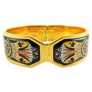 Michaela Frey Contessa Bangle – Egyptian Lotus Flowers, Original Box