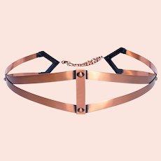 1950's Renoir Copper Straps Belt, Adjustable, Excellent Condition, Mid Century