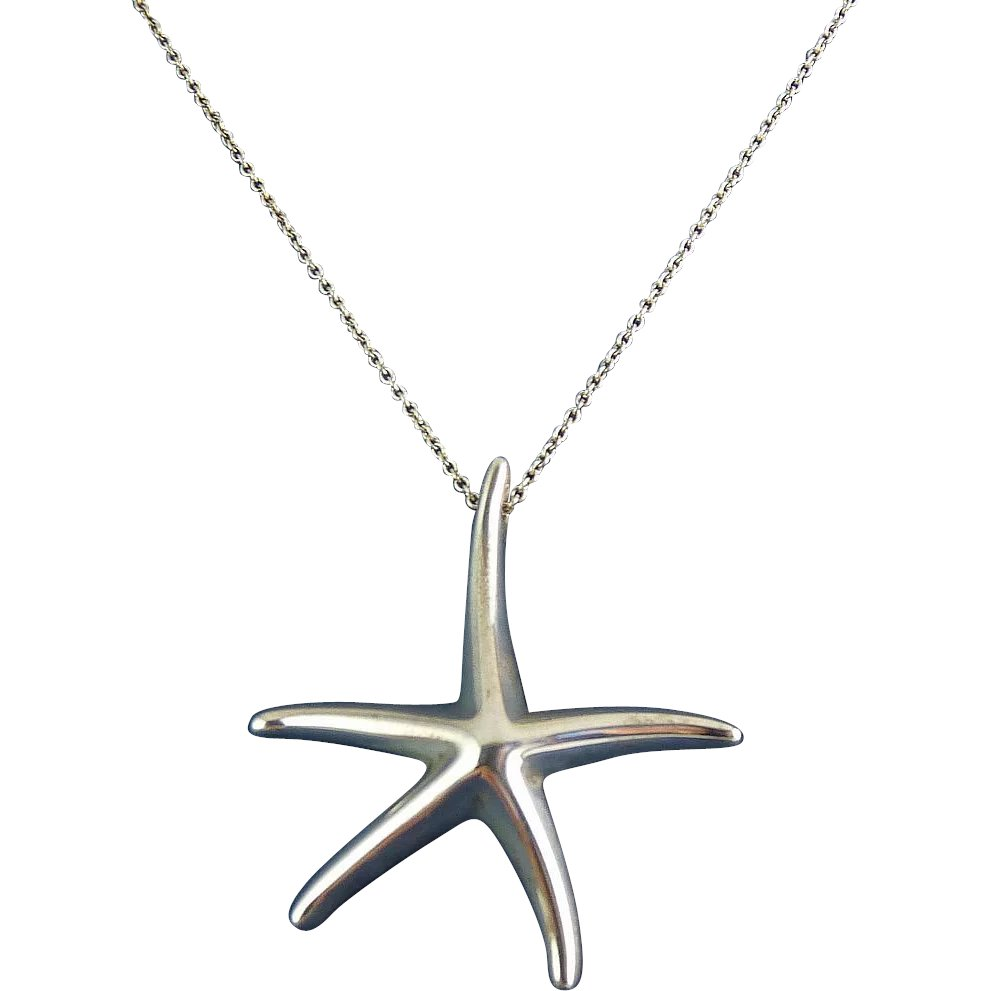 6b6beb01fc265 Tiffany Elsa Peretti Lg Starfish Pendant Necklace, 39mm, 16 Inch ...