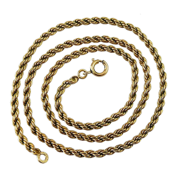 Winard Gold-Filled 18 Inch Rope Chain Necklace