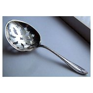 Vintage signed Towle Cordova Pattern Sterling Silver Sugar Sifter ~ Pierced Spoon ~